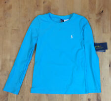 $45 Polo Ralph Lauren Girls' Rashguard Swim Coverup, Blue, Size 6