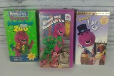 BARNEY Vhs Videos Lot of 3 Alphabet Zoo, Round and Round We Go, Talent Show