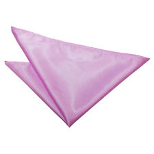DQT Satin Plain Solid Lilac Formal Handkerchief Hanky Pocket Square