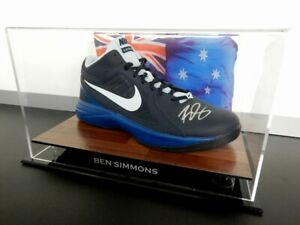 ✺Signed✺ BEN SIMMONS Nike Basketball Shoe PROOF COA NBA 2021 Jersey