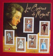 bloc neuf avec surtaxe Croix-Rouge  : opéras de Mozart (année 2005)
