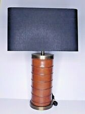 Stitched Gainsborough Leather Wrapped Barrel Lamp English Style Chair Accessory