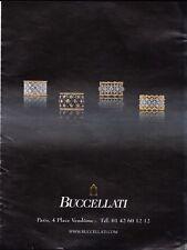 BUCCELLATI  Pub de Magazine .Magazine advertisement. 2012. page papier
