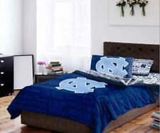 North Carolina Tar Heels Full Comforter & Sheet Set, 5 Piece NCAA Bedding, NEW