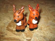 fisher price little people reindeer Christmas holiday Noah's ARK Pair Deer Two