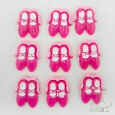 10 pcs Pink Ballet Shoes Resin Flatback Embellishment Craft Accessories