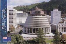 Postcard: Wellington, Parlamentsgebäude, Neuseeland