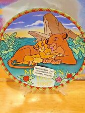 Disney 1997 A Mother's Love Lion King Collector's Plate Mother'S Day Grolier