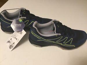 NWT Salomon Xa Takeo Ortholite mens USA 9,5 blue/black Quicklace sneakers