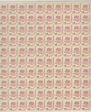 Scott 1585 - Books & Eyeglasses. Sheet Of 100.    #02 1585s100