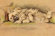 Pekingese Dog 1930's Art Print Lucy Dawson - Large New Blank Note Cards