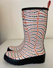 Hunter Original Play Tall Sonic Logo Women's Sz 8/ UK 6 Rubber Rain Boots NEW!!!