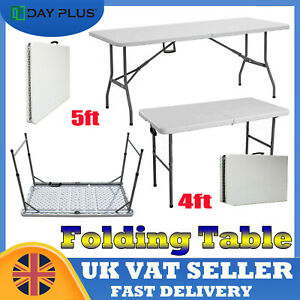 Folding Table Extra Strength Camping Buffet Market Party Car Boot Stall Laptop
