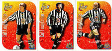 Newcastle United 3 of 9 Cutting Edge Insert Cards. Futera Fans Collection 1999
