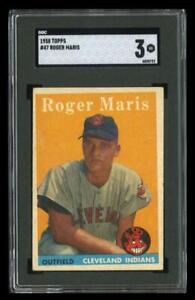 1958 Topps Set Break # 47 Roger Maris RC SGC 3 VG