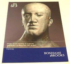 Bonhams & Brooks - Modern British paintings 2001 AUCTION CATALOGUE E Frink etc