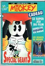 LE JOURNAL DE MICKEY n°2120 ¤ 1993 ¤ + CADEAU JEU FILM CHERIE J'AI AGRANDI BEBE