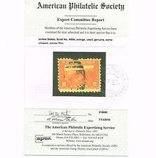 GENUINE SCOTT #400A USED 1919 10¢ ORANGE APS CERT - ESTATE CLOSEOUT