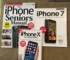 3 Magazine Lot iPHONE X COMPLETE MANUAL iPhone 7 Guide SENIORS iPHONE Manual NEW