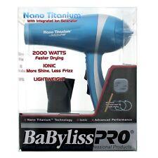 BaBylissPRO Nano Titanium 2000 Watts Ionic Lightweight Hair Dryer