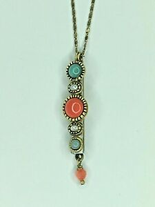 Delicate Coral, Amazonite and Pearl Necklace by Michal Golan Handmade