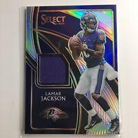 2019 Lamar Jackson Panini Select Football Prizm Jersey Patch /99 #SS-25