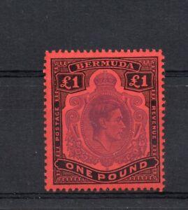 Bermuda George VI keyplates SG121d £1 Nov 51 superb MNH condition.