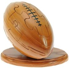 Rugby Ball Wooden Puzzle 3d Keyring Unique Gift for Dad Christmas Gifts Present