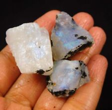 29 Piece Big Lot Wholesale Price 100/% Natural Rainbow Moonstone Cabochon Loose gemstone Rainbow Blue Moonstone for jewellery 47 Cts MI09-47