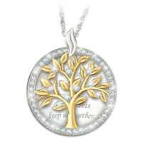 925 Silver Portrait Pendant Two Tone Gold Women Chain Choker Necklace Wedding