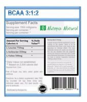 8 OZ, BCAA 3:1:2 (Branched Chain Amino Acids) Powder, Non-GMO, Free Shipping.