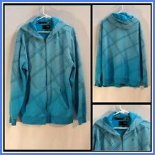 Hurley Blue on Blue Long Sleeve Full Front Zipper Hoodie Size (XL) XLarge #10594