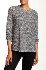 VINCE Tweed Knit Drop Shoulder Sweater, XSmall