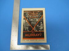 Vintage MURRAY`S Restaurant Chain  Maps When In Montreal Or Toronto  S1507