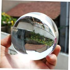 80mm Clear Round Glass Artificial Crystal Healing Ball Sphere Decoration CN