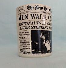 MEN WALK ON MOON JULY 21 1969 THE NEW YORK TIMES NEWSPAPER COFFEE MUG CUP