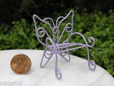 Miniature Dollhouse FAIRY GARDEN Furniture ~ Micro Mini Lavender Butterfly Chair