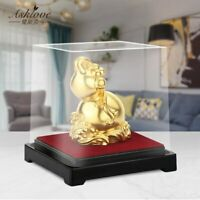 Lucky Gourd Statue Living Room Decorations Gold Foil Mascot FengShui Home Decor