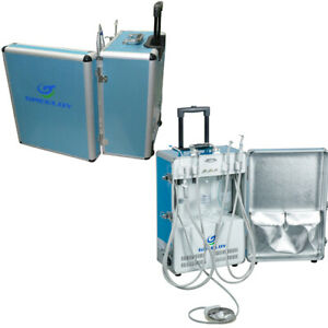 Dental Portable Unit with Air Compressor 3-way Syringe Strong Saliva Ejector