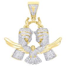 10K or Jaune Diamant Battant au Vent Oiseau / Hands Break Gratuit Pendentif 1.6