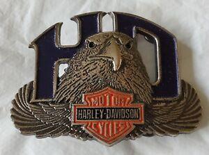 New Vintage Harley Davidson Baron Belt Buckle - Solid Brass H523