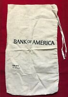 Vintage Bank Of America Large Canvas Cloth Money Bag Sack Open Top 28.5""