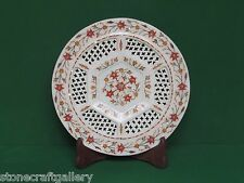 Marble Plate Pietra Dura Work White Stone Art & Craft for Home Decor for Gift