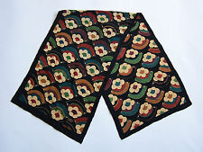 Liberty Silk Scarf Art Deco Floral Pattern Multicoloured Vintage ACCp#160