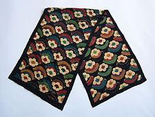 Liberty Silk Scarf Art Deco Floral Pattern Multicoloured Vintage ACCp#160
