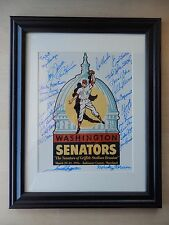 "Washington Senators 29 Autographs from 1996 Griffith Stadium Reunion 8"" X 10"""