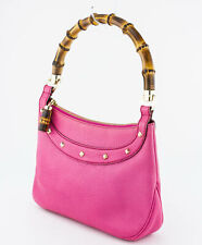 GUCCI Pink Leather Bag with Bamboo Handle