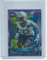 2015 Topps Chrome MINI FB #161 Alex Carter ULTRA RARE PURPLE REFRACTOR RC !!