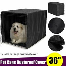 36 Inch Black Pet Dustproof Cage Cover Dog Puppy Cat Windproof Kennel   D2