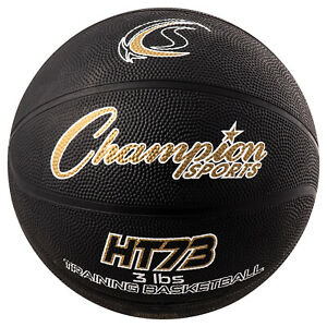 Champion Sports Weighted Basketball Trainer, 3 Pounds, Black